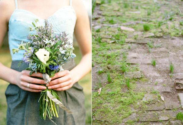 denim-bridesmaid-blue-bouquet