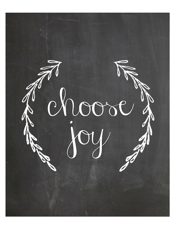 Choose Joy Printable 8x10