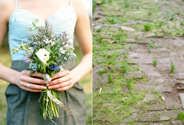 denim-bridesmaid-blue-bouquet